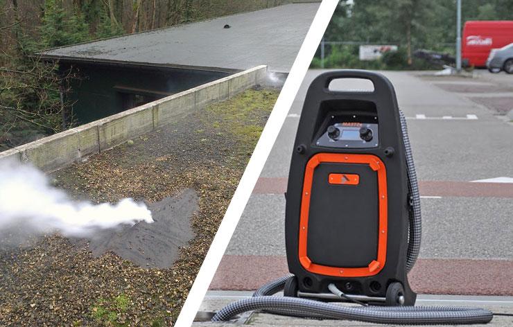 Méthode par fumigène - Énergia : recherche de fuites non destructive